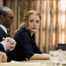 Jessica Chastain plays Maya, a woman who means business in Zero Dark Thirty.