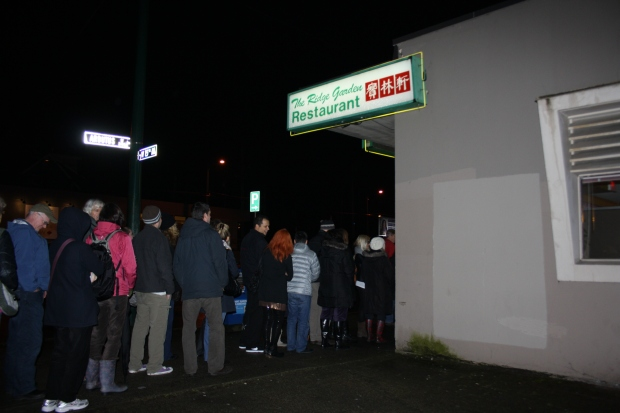 The line-up for The Ridge's very last show went past the whole block of the minimall.