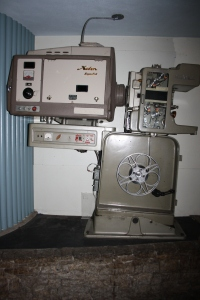 Another priceless gem from The Ridge: the old movie projector on display just outside the theatre.