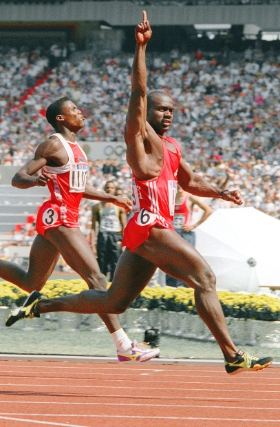 Ben Johnson (right) beat Carl Lewis (left) in the heavily hyped Olympic final of the 100m dash. A shocking truth would be unraveled three days later.