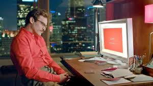 Joaquin Phoenix plays a man in a relationship with a virtual over in the offbeat but enjoyable Her.