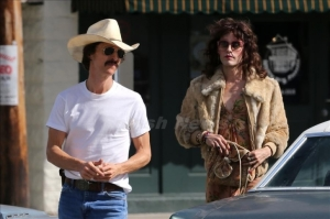Matthew McConaughey (left) and Jared Leto make unlikely business partners in Dallas Buyers Club.