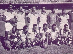 The 1950 Brazil team. Before 1950, Vrazil's best finish at the World Cup was third in 1938.