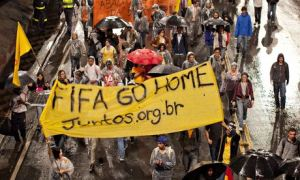 Brazilians continued their protesting around FIFA's World Cup over its huge expense.