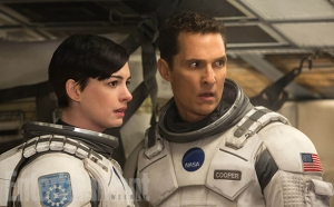 Matthew McConaughey and Anne Hathaway are on an intergalactic mission to save civilization on Earth in Interstellar.