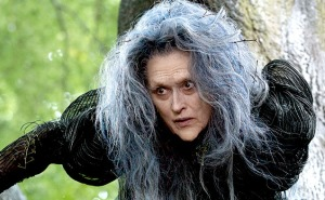 Meryl Streep plays a witch in control of the fates of fairy tales in the film adaptation of Into The Woods.
