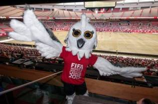 Shuéme, a Great White Owl, is the mascot for the 2015 FIFA Women's World Cup.