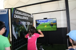 Goalkeeper Challenge allows the player to virtually block the ball with their hands.