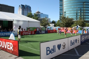 The mini-field is an ideal place for small children to simply play football or learn new skills.