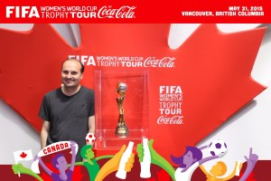 Here I am with the Women's World Cup!