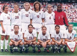The 1991 US women's World Cup team: the first ever Women's World Cup winners.