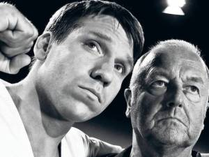 Tough Love is a docudrama of the rough past of World karate champion Andreas Marquardt (right) who is played by Hanno Koffler (left) in his younger days.