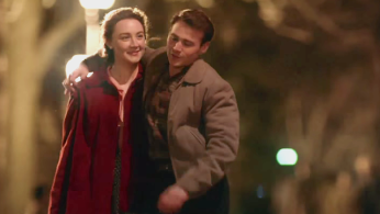 Brooklyn is the story of Irish girl Eilis (played by Saoirse Ronan) who comes to America and is swept away by a Brooklyn boy (played by Emory Cohen).